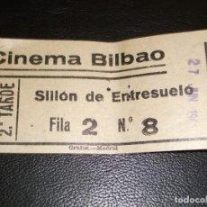 Cinéma: ENTRADA DE CINE BILBAO DE MADRID - PELICULA CRIMINAL ACORRALADO FBI JACK KELLY 1965. Lote 248262460