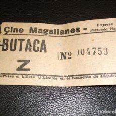 Cinéma: ENTRADA DE CINE MAGALLANES DE MADRID - PELICULA UN OPTIMISTA DE VACACIONES JAMES STEWART 1965. Lote 248262960
