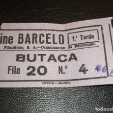 Cinéma: ENTRADA DE CINE BARCELO DE MADRID - PELICULA BLANCANIEVE Y LOS SIETE ENANITOS DISNEY 1965. Lote 248264010