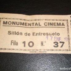 Cinéma: ENTRADA DE CINE MONUMENTAL CINEMA DE MADRID - PELICULA 5 SINFONIA DE BEETHOVEN 1965. Lote 248264695