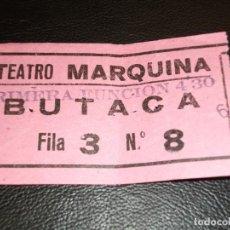Cine: ENTRADA DE TEATRO MARQUINA DE MADRID - LA TERCERA PALABRA CASONA ALBERTO CLOSAS. Lote 248269040