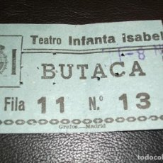 Cine: ENTRADA DE CINE TEATRO INFANTA ISABEL DE MADRID - PELICULA UN DOMINGO EN NUEVA YORK ROCIO DURCAL 64. Lote 248271220