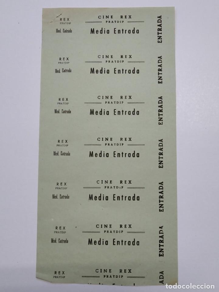 6 ENTRADAS CINE REX - PRATDIP (TARRAGONA) - AÑOS 40, HOJA SIN CORTAR...L3633 (Cine - Entradas)