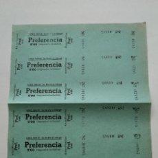 Cine: 6 ENTRADAS CINE ATENEO FAMILIAR - SAN BAUDILIO DE LLOBREGAT - AÑOS 40, HOJA SIN CORTAR...L3674. Lote 248967965