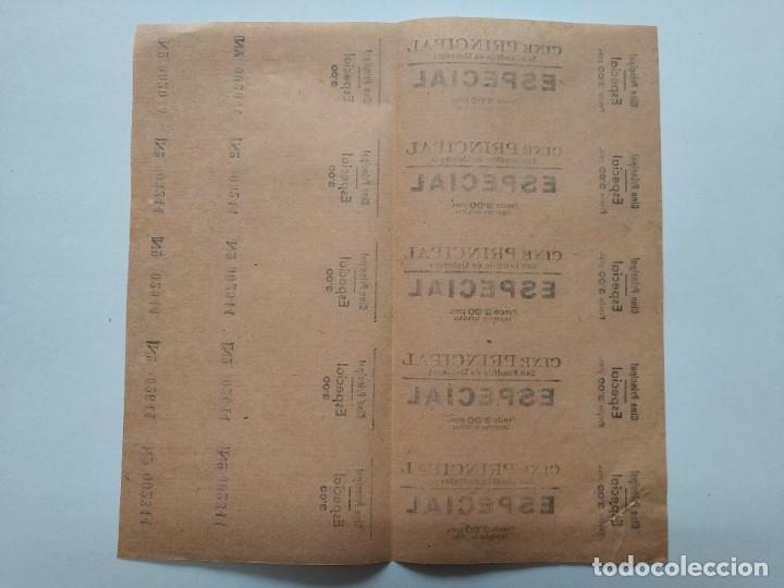 Cine: 5 ENTRADAS CINE PRINCIPAL - SAN BAUDILIO DE LLOBREGAT - AÑOS 40, HOJA SIN CORTAR...L3676 - Foto 2 - 248969705