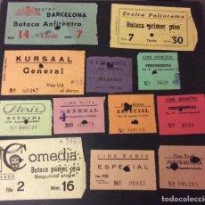 Cinéma: LOTE DE 12 ENTRADAS DE TEATROS Y CINES DE BARCELONA. AÑOS 60 - 70. Lote 251711705