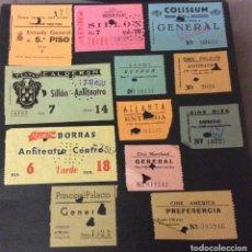 Cinéma: LOTE DE 12 ENTRADAS DE TEATROS Y CINES DE BARCELONA. AÑOS 60 - 70. Lote 251711925