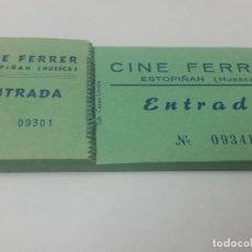 Cine: TALONARIO CINE FERRER ESTOPIÑAN, HUESCA. DIFICIL.. Lote 254453760