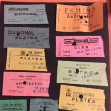 Cinéma: LOTE DE 12 ENTRADAS DE TEATROS Y CINES DE BARCELONA. AÑOS 60 - 70. Lote 258195020