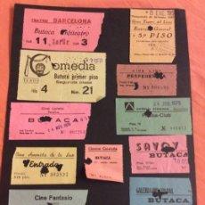 Cinéma: LOTE DE 12 ENTRADAS DE TEATROS Y CINES DE BARCELONA. AÑOS 60 - 70. Lote 258195355