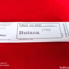 Cine: ENTRADAS CINE TALONARIO TERRAZA SAN MIGUEL ALMERÍA AÑOS 60. Lote 260657525