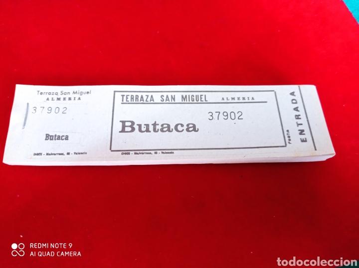 ENTRADAS CINE TERRAZA SAN MIGUEL ALMERÍA TALONARIO AÑOS 60 (Cine - Entradas)