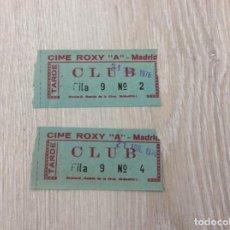 Cine: DOS ENTRADAS CINE ROXI A.- MADRID AÑO 1976. Lote 261235370