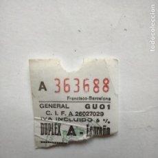 Cine: ENTRADA - CINES DUPLEX LOGROÑO- SALA A - 1993. Lote 262310300
