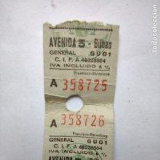 Cine: 2 ENTRADAS - CINES AVENIDA BILBAO- SALA 5 - 1993. Lote 262310650