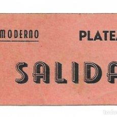 Cine: TARRAGONA - CINE MODERNO - PLATEA - SALIDA. - VEURE FOTOS. Lote 262427455