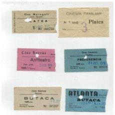 Cine: LOTE DE 14 ANTIGUAS ENTRADA DE CINE -. Lote 263299450