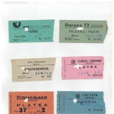 Cine: LOTE DE 12 ANTIGUAS ENTRADA DE CINE -. Lote 263299820