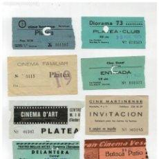 Cine: LOTE DE 15 ANTIGUAS ENTRADA DE CINE -. Lote 263300435