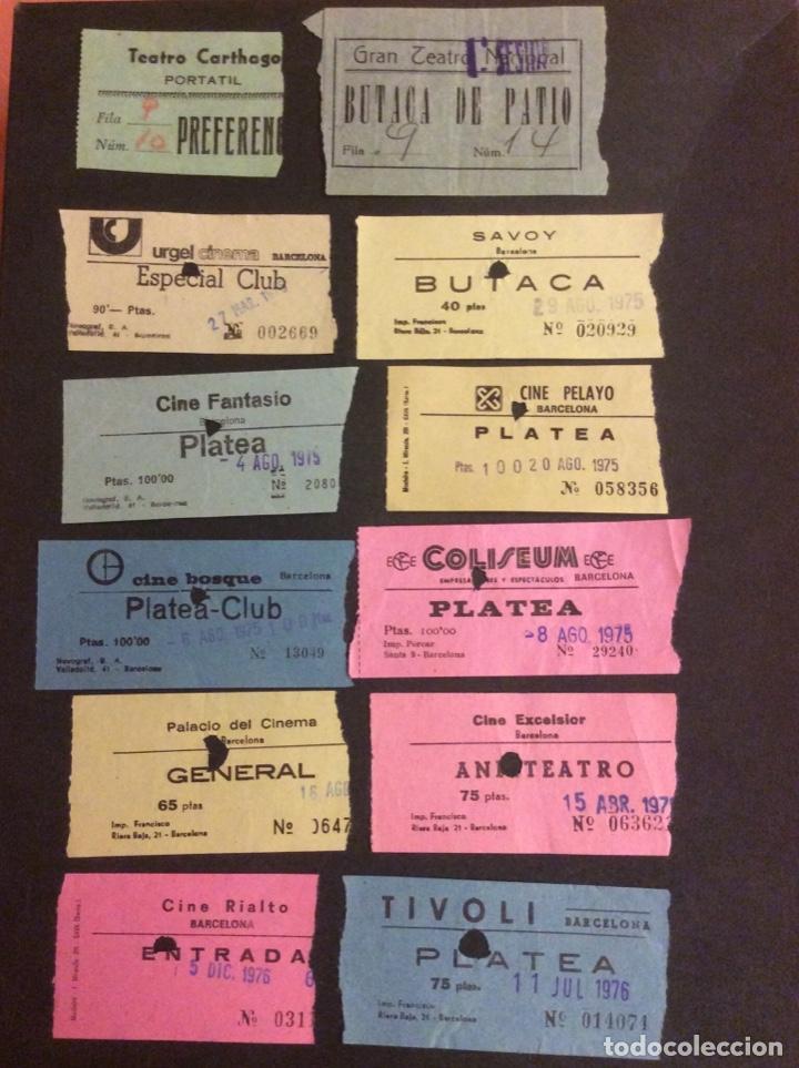 LOTE DE 12 ENTRADAS DE TEATROS Y CINES DE BARCELONA. AÑOS 60 - 70 (Cine - Entradas)