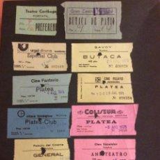 Cinéma: LOTE DE 12 ENTRADAS DE TEATROS Y CINES DE BARCELONA. AÑOS 60 - 70. Lote 264743119