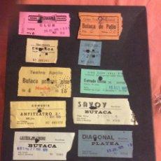 Cinéma: LOTE DE 12 ENTRADAS DE TEATROS Y CINES DE BARCELONA. AÑOS 60 - 70. Lote 264743129