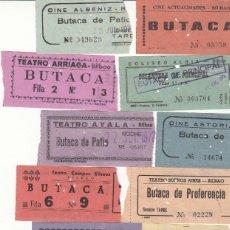 Cinéma: 22 ENTRADAS DE CINES DE BILBAO AÑO 1972 / REVERSO CON FECHA Y PELICULA A MANO. Lote 266838159