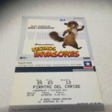 Cine: ENTRADAS DE CINE KINEPOLIS VECINOS INVASORES. Lote 268964374