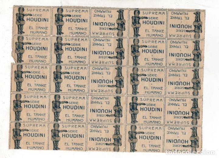 LOTE DE 25 ENTRADAS ESPECTACULO HOUDINI Y EL TANKE HUMANO. SUPREMA. 1919- MUY RARO (Cine - Entradas)