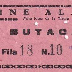 Cinéma: ENTRADA DE CINE ALAMO MIRAFLORES DE LA SIERRA. MADRID 1966. Lote 270923428