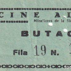 Cinéma: ENTRADA DE CINE ALAMO MIRAFLORES DE LA SIERRA. MADRID 1966. Lote 270925218