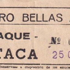 Cinéma: ENTRADA TEATRO BELLAS ARTES CLAQUE BUTACA TARDE CINE 1963. Lote 270926343