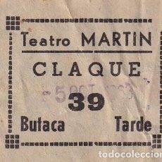 Cinéma: ENTRADA TEATRO CINE MARTÍN CLAQUE 1963. Lote 270931993