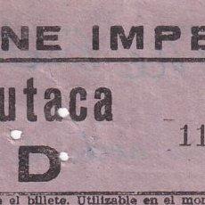 Cinéma: ENTRADA CINE IMPERIAL 1964. Lote 270935288
