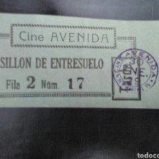 Cinéma: ENTRADA CINE AVENIDA MADRID 1929. Lote 272976113