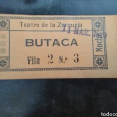 Cinéma: ENTRADA TEATRO DE LA ZARZUELA MADRID 1929. Lote 273023338