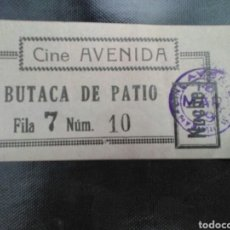Cinema: ENTRADA CINE AVENIDA MADRID 1929 MARIA JACOBINI. Lote 273114038