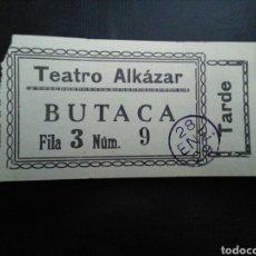 Cinema: ENTRADA TEATRO ALCÁZAR MADRID 1929. Lote 273114723