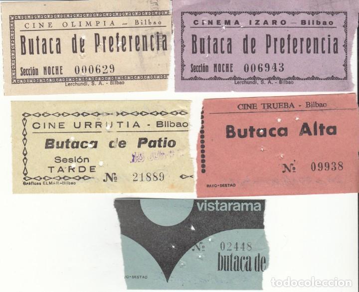 Cine: 19 ENTRADAS DE CINES DE BILBAO AÑO 1972 / REVERSO CON FECHA Y PELICULA A MANO - Foto 2 - 276214173