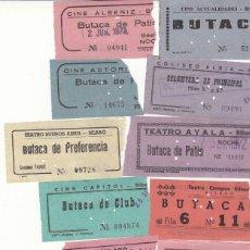 Cine: 19 ENTRADAS DE CINES DE BILBAO AÑO 1972 / REVERSO CON FECHA Y PELICULA A MANO. Lote 276214173