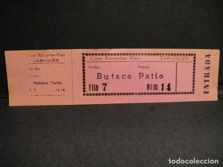 ENTRADA AL CINE ESCUELAS PIAS DE ZARAGOZA (Cine - Entradas)