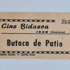 Cinéma: ENTRADA CINE BIDASOA BUTACA DE PATIO - IRÚN GUIPÚZCOA. Lote 278794708
