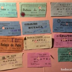 Cine: LOTE DE 12 ENTRADAS DE TEATROS Y CINES DE BARCELONA. AÑOS 60 - 70. Lote 279322288