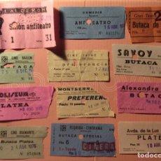 Cine: LOTE DE 12 ENTRADAS DE TEATROS Y CINES DE BARCELONA. AÑOS 60 - 70. Lote 279322668