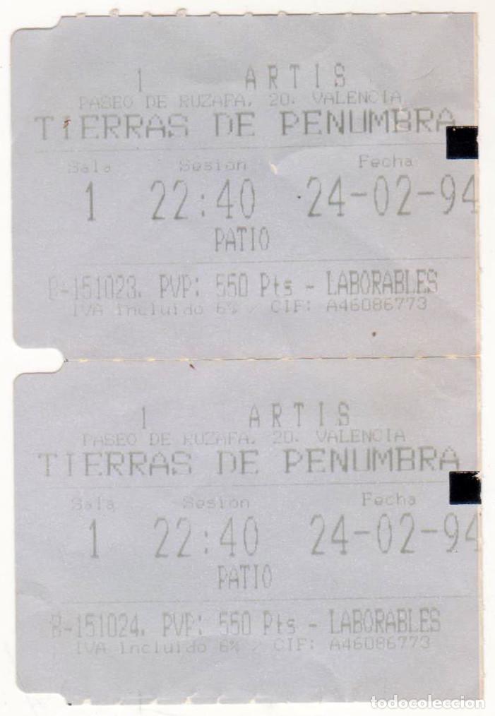 TIERRAS DE PENUMBRA - AÑO 1994 - BUEN ESTADO (Cine - Entradas)
