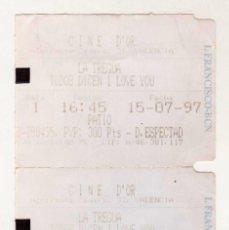 Cine: LA TREGUA - TODOS DICEN I LOVE YOU - AÑO 1997. Lote 286826113