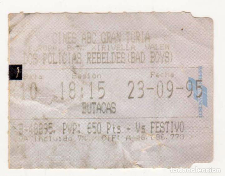DOS POLICÍAS REBELDES (BAD BOYS) - AÑO 1995 (Cine - Entradas)