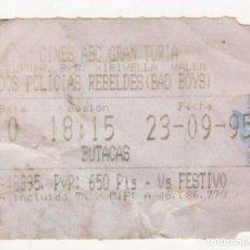 Cine: DOS POLICÍAS REBELDES (BAD BOYS) - AÑO 1995. Lote 286871898