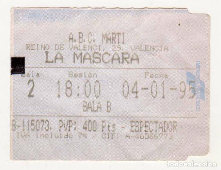 LA MÁSCARA - AÑO 1995 (Cine - Entradas)