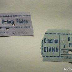 Cine: LOTE ENTRADAS CINES DIANA - RIALTO. Lote 288870748